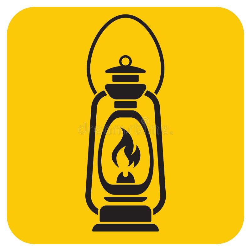 Lámpara de keroseno vieja antigua aislada Diseño retro libre illustration