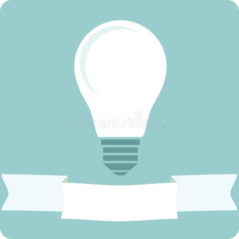 Lámpara de la bombilla del icono stock de ilustración