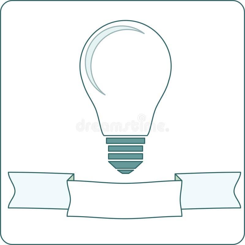 Lámpara de la bombilla del icono libre illustration