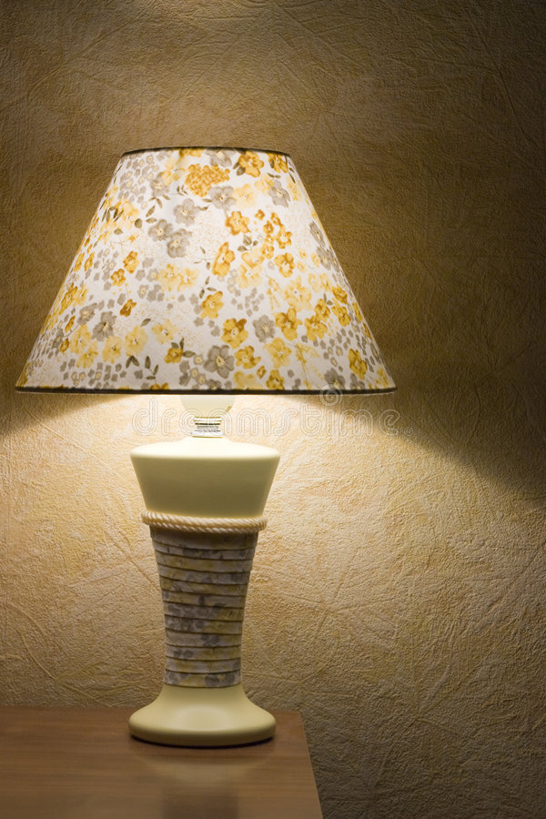 Lámpara de la noche imagen de archivo