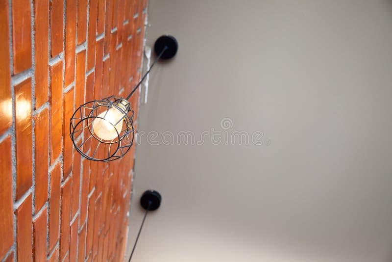 Lámpara de la obra clásica de la luz anaranjada foto de archivo libre de regalías