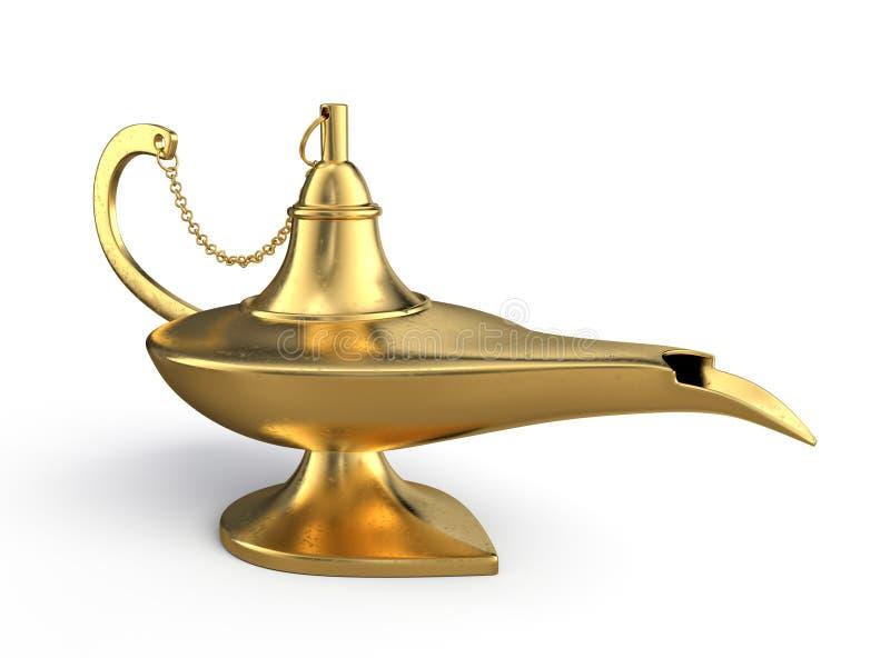 Lámpara de los genios stock de ilustración