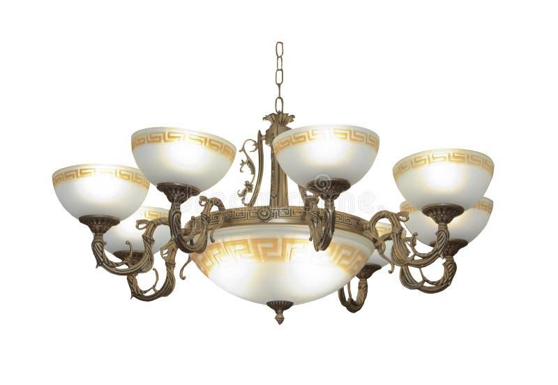 Lámpara de lujo aislada en blanco fotografía de archivo libre de regalías