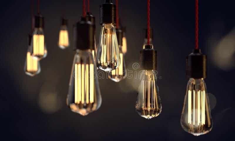 Lámpara de luz Edison fotografía de archivo
