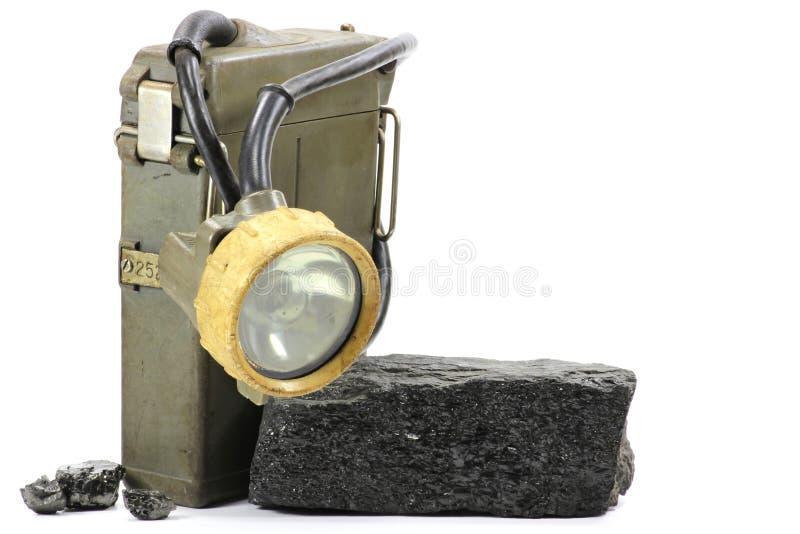 Lámpara de mina imagenes de archivo
