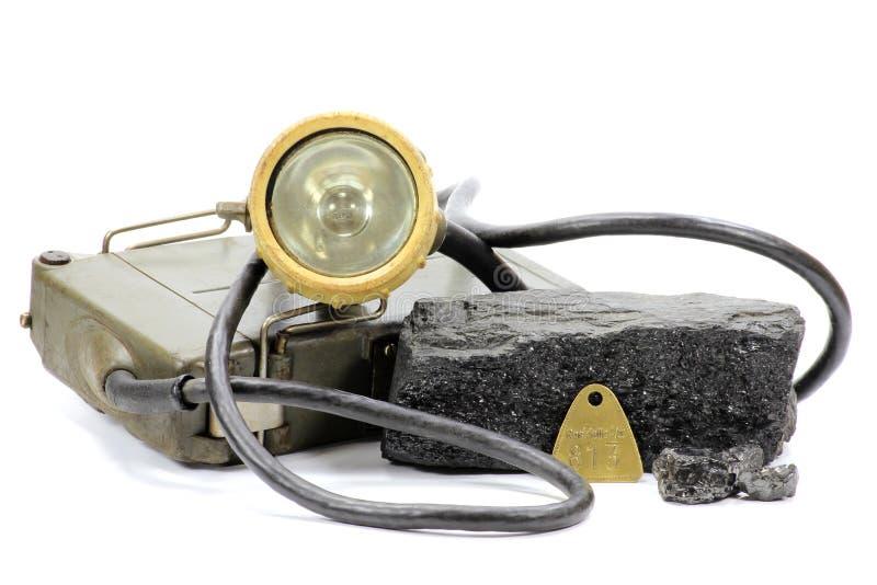Lámpara de mina fotos de archivo libres de regalías