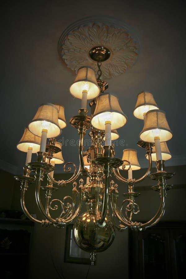 Lámpara de oro fotografía de archivo libre de regalías