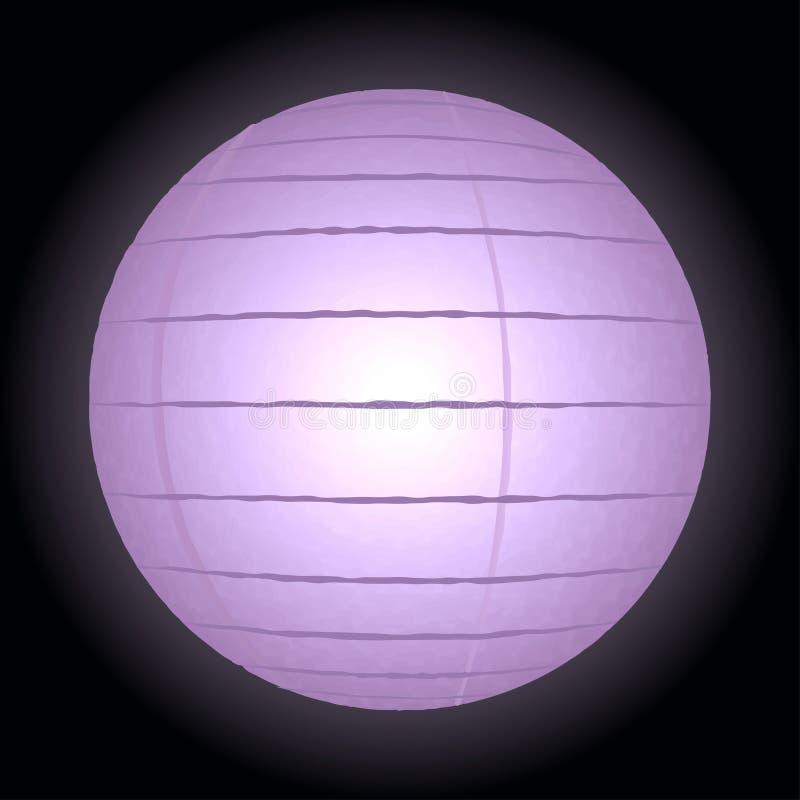 Lámpara de papel aislada en fondo negro foto de archivo libre de regalías