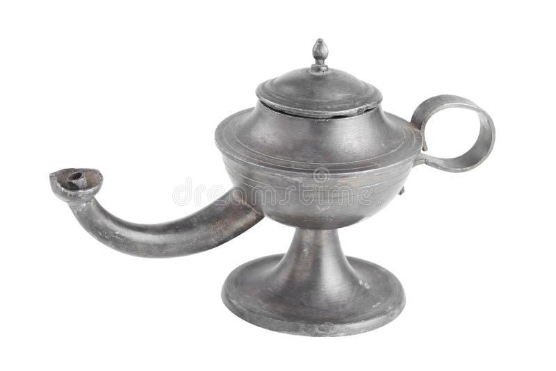 Lámpara de petróleo árabe, lámpara de Aladdin,   fotos de archivo