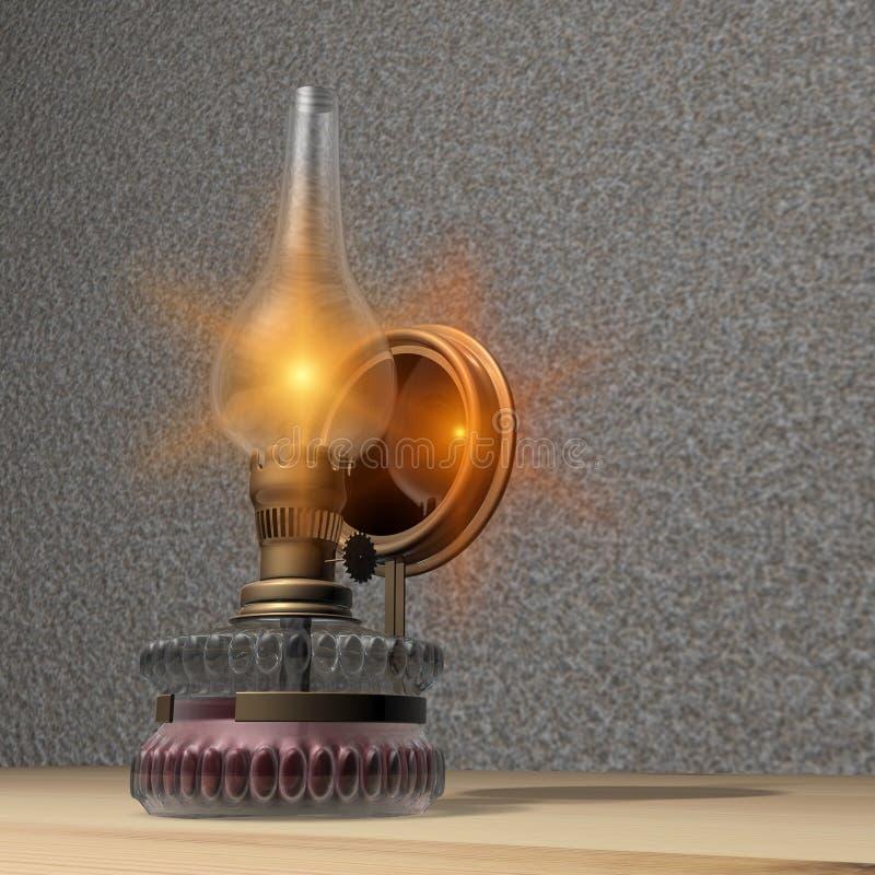 Lámpara de petróleo ilustración del vector