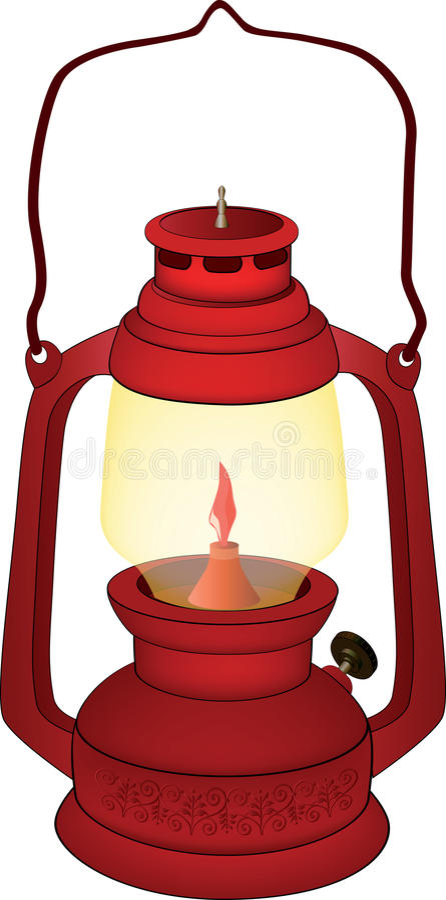 Lámpara roja vieja libre illustration