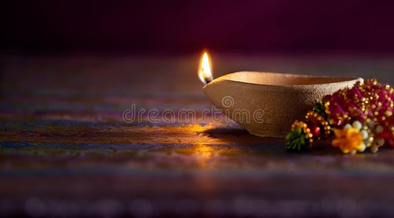 Lámpara de petróleo de Diwali foto de archivo libre de regalías