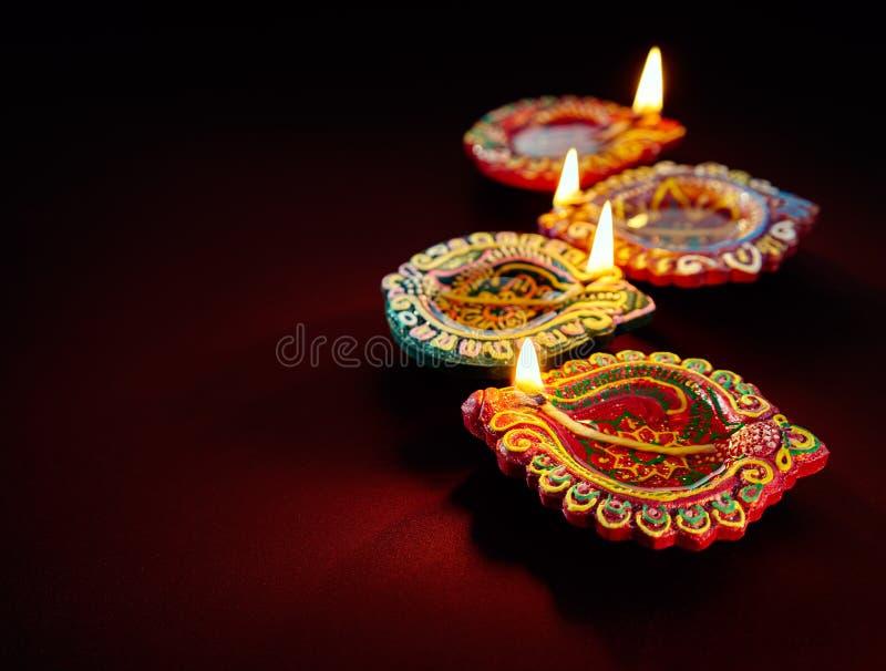 Lámpara de petróleo de Diwali foto de archivo