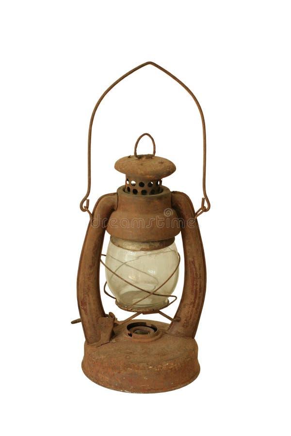 Lámpara de petróleo de la vendimia fotografía de archivo