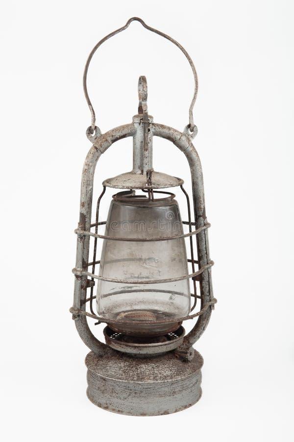 Lámpara de petróleo polvorienta vieja fotos de archivo