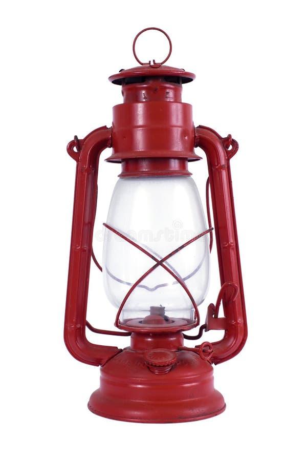 Lámpara de petróleo roja imagen de archivo