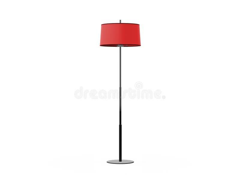 Lámpara de pie roja stock de ilustración