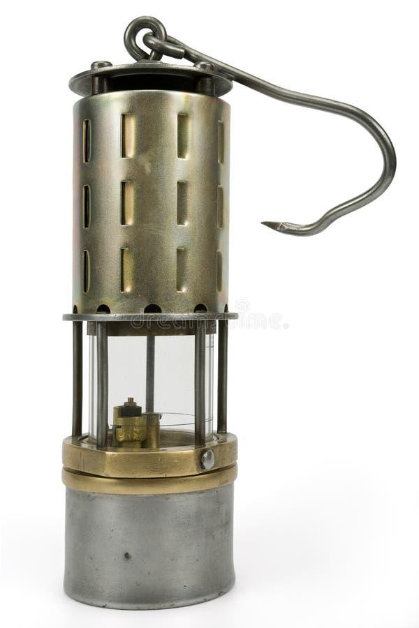 Lámpara de seguridad de la mina foto de archivo