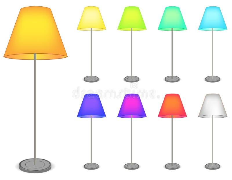 Lámpara del color ilustración del vector
