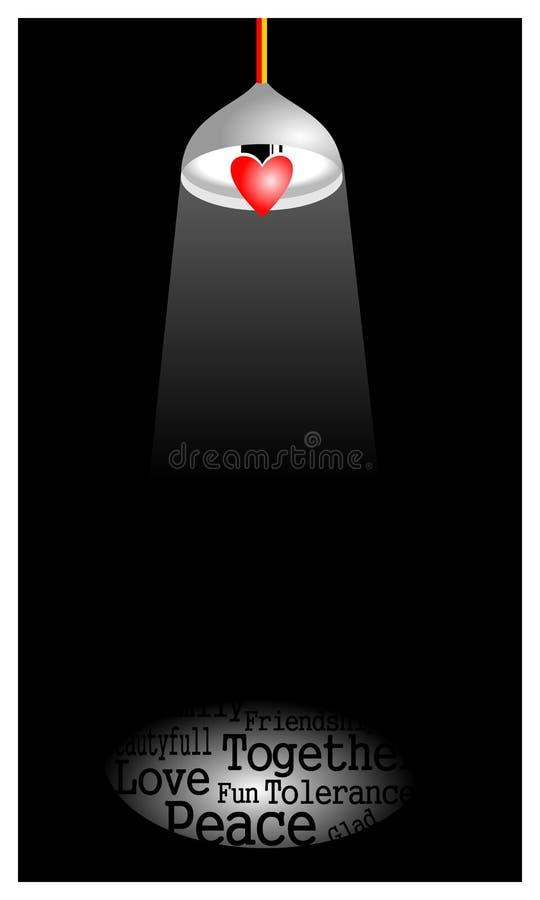 Lámpara del corazón fotos de archivo