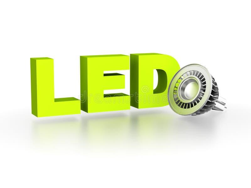 Lámpara del LED (diodo electroluminoso) stock de ilustración