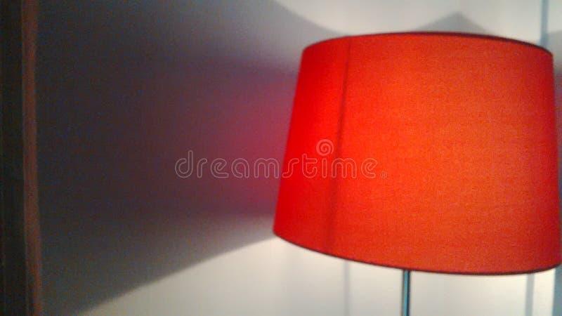 Lámpara del rojo de la amapola fotografía de archivo libre de regalías