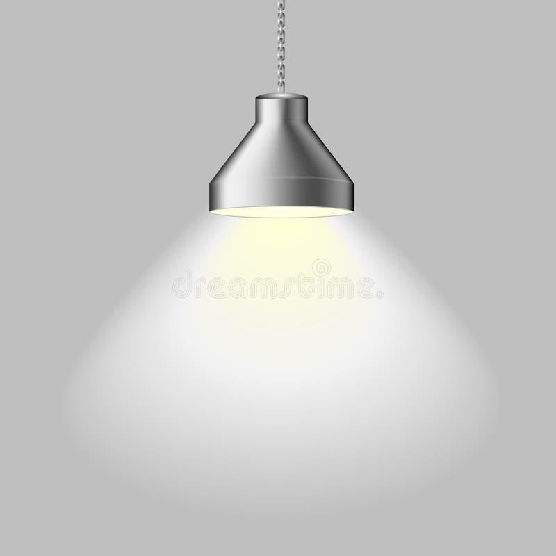 Lámpara del techo ilustración del vector