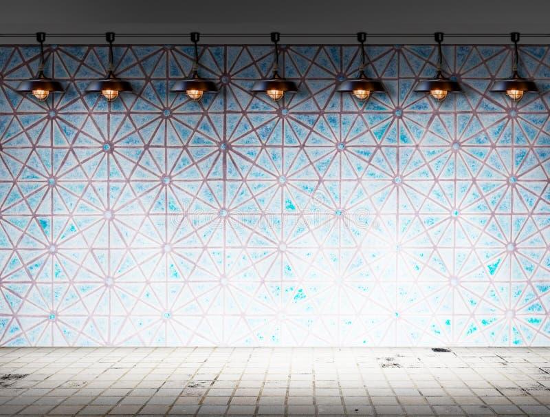 Lámpara del techo en sitio de la teja imagen de archivo libre de regalías