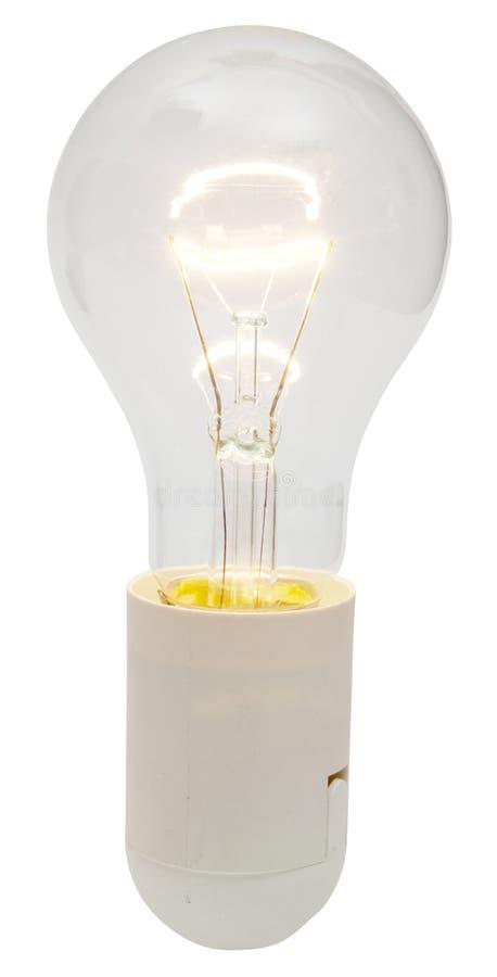 Lámpara eléctrica brillante del bulbo imagen de archivo libre de regalías