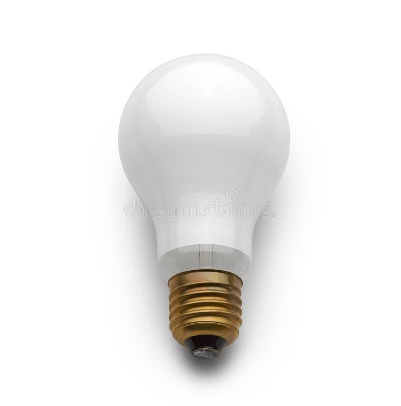 Lámpara eléctrica del bulbo (camino de recortes) fotos de archivo