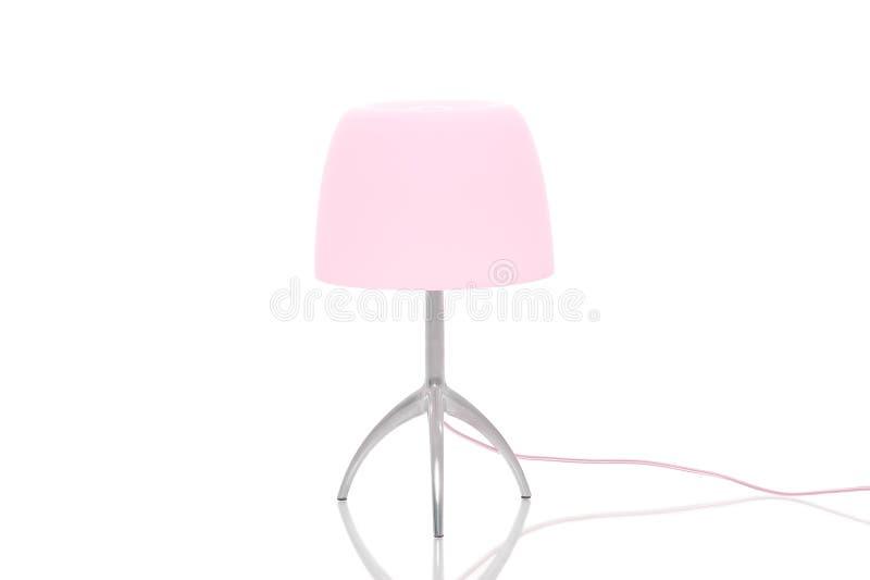 Lámpara elegante del metal con pantalla rosada fotos de archivo libres de regalías