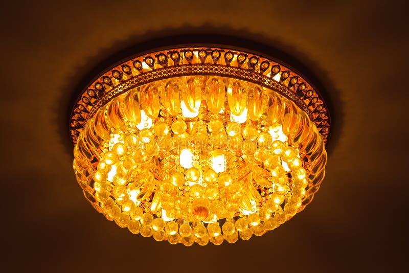 Lámpara enorme del cristal del primer fotografía de archivo