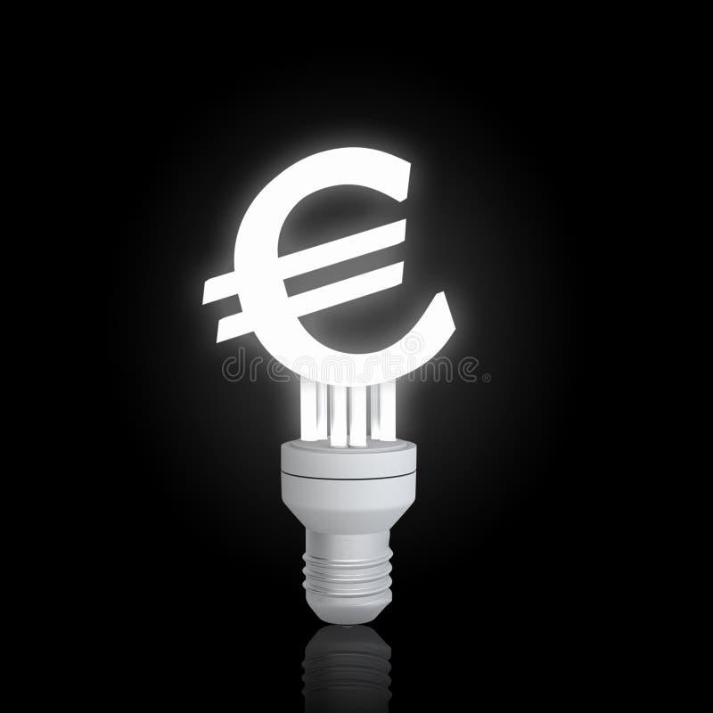 Lámpara euro de la muestra foto de archivo