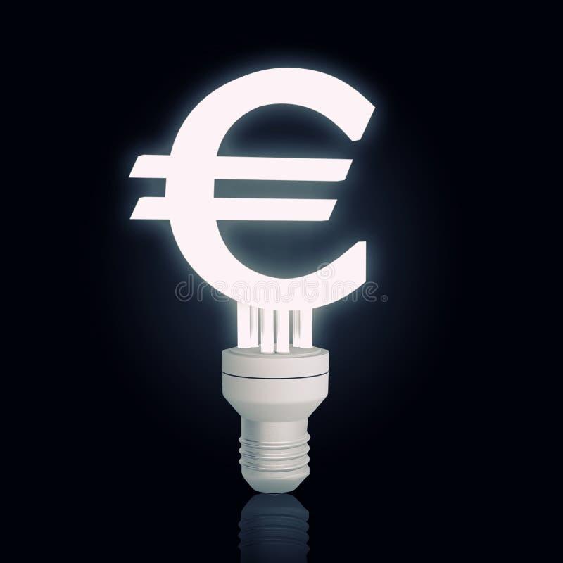 Lámpara euro de la muestra fotos de archivo libres de regalías