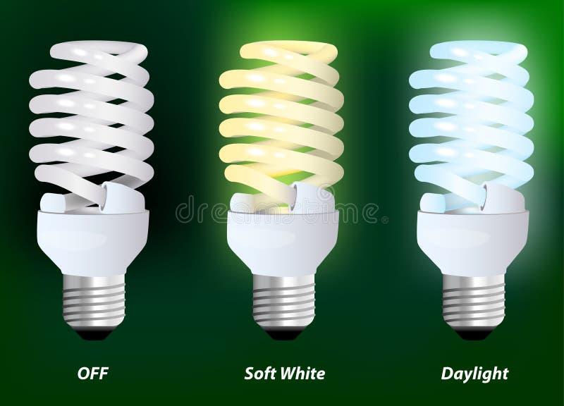Lámpara fluorescente compacta stock de ilustración