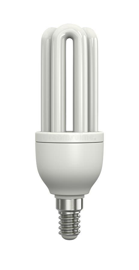 Lámpara fluorescente compacta ilustración del vector