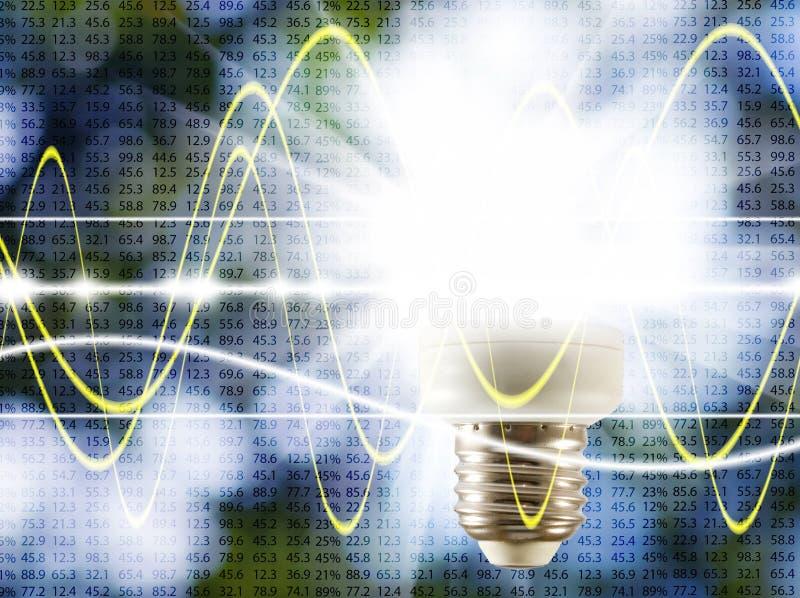 lámpara incluida en fondo tecnológico imágenes de archivo libres de regalías