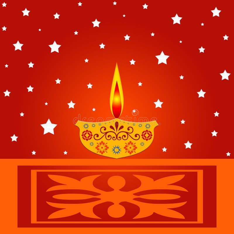 Lámpara india del diwali libre illustration