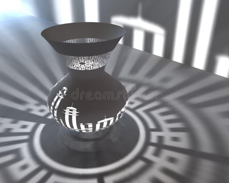 Lámpara islámica 3d ilustración del vector