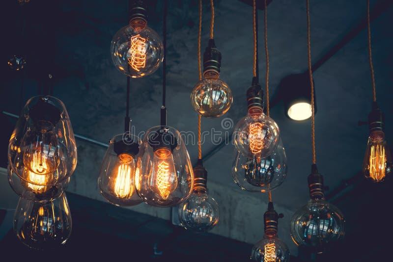 Lámpara ligera de lujo del vintage fotos de archivo