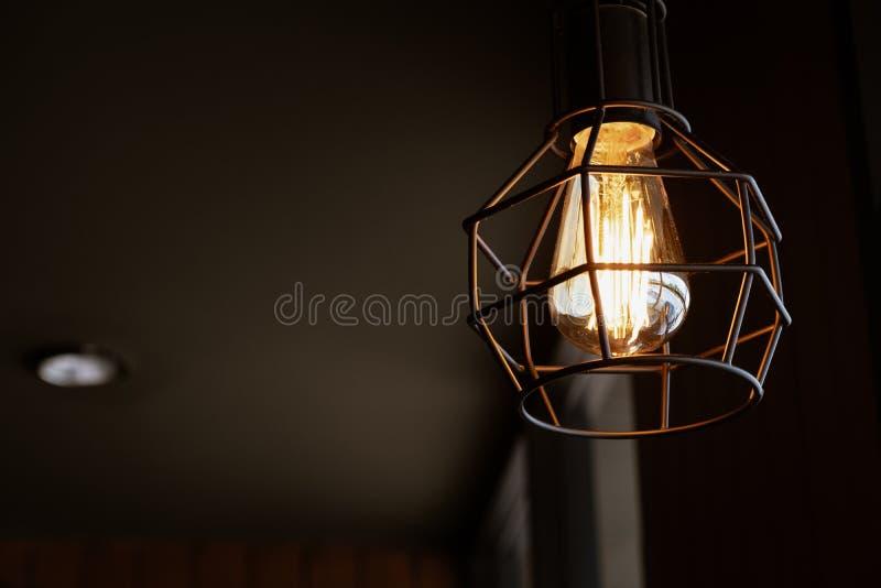 Lámpara ligera de lujo del vintage imagenes de archivo