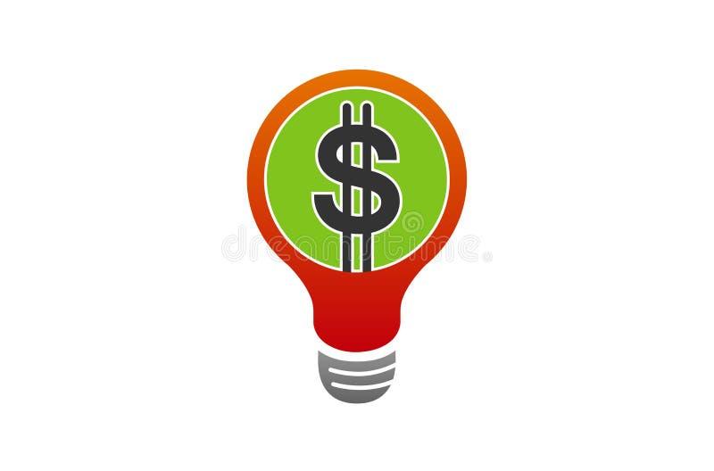 Lámpara Logo Symbol de la idea del dinero libre illustration