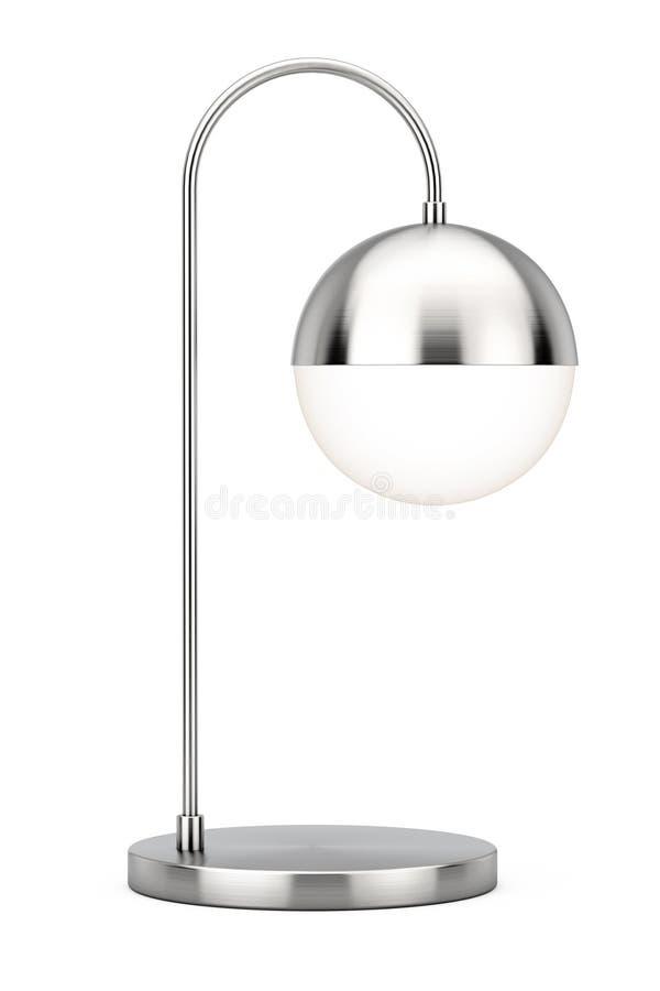 Lámpara moderna del acero inoxidable del metal del escritorio representación 3d ilustración del vector