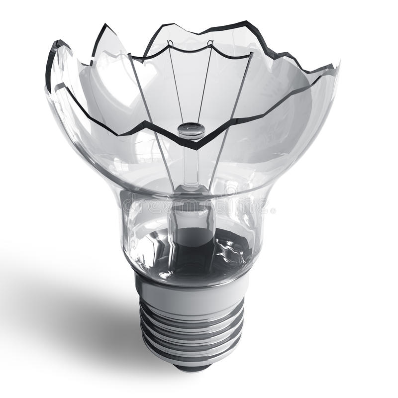 Lámpara quebrada ilustración del vector