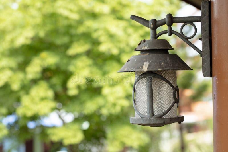 Lámpara retra en la decoración del hogar de la pared fotos de archivo libres de regalías