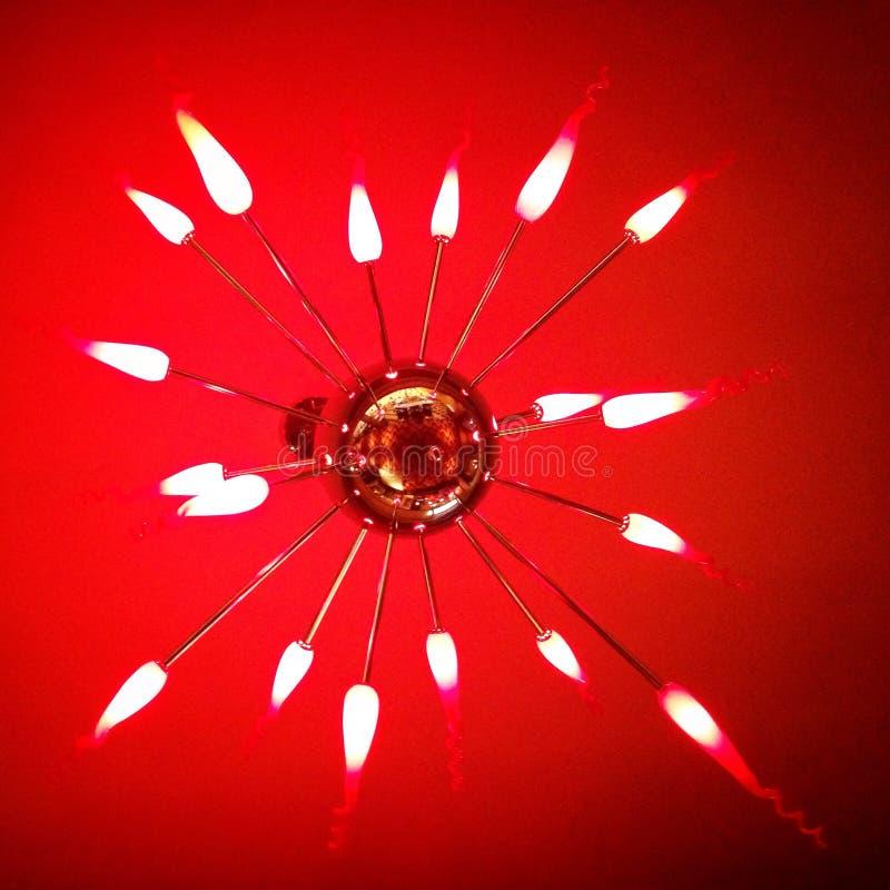 Lámpara roja de la estrella imagenes de archivo
