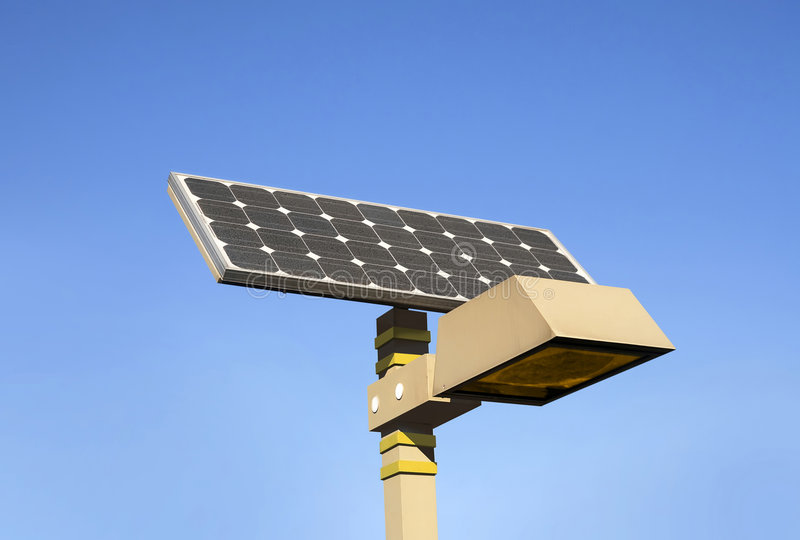 Lámpara solar fotos de archivo libres de regalías