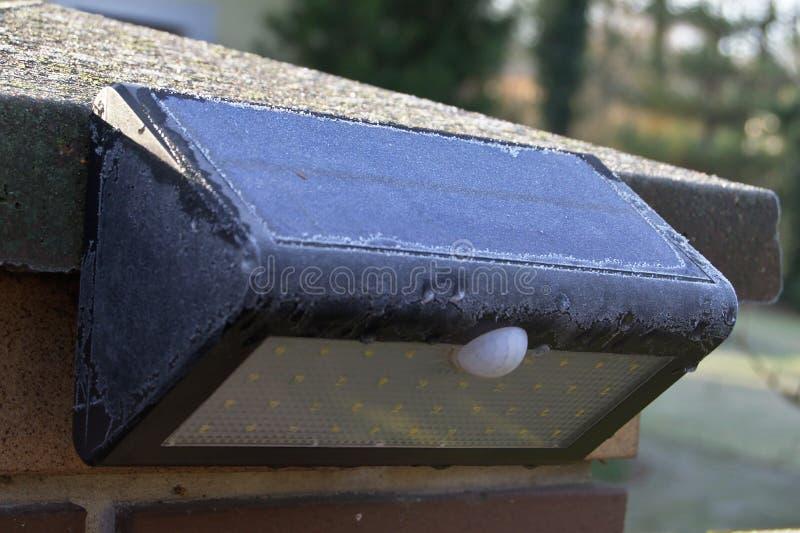 Lámpara solar foto de archivo