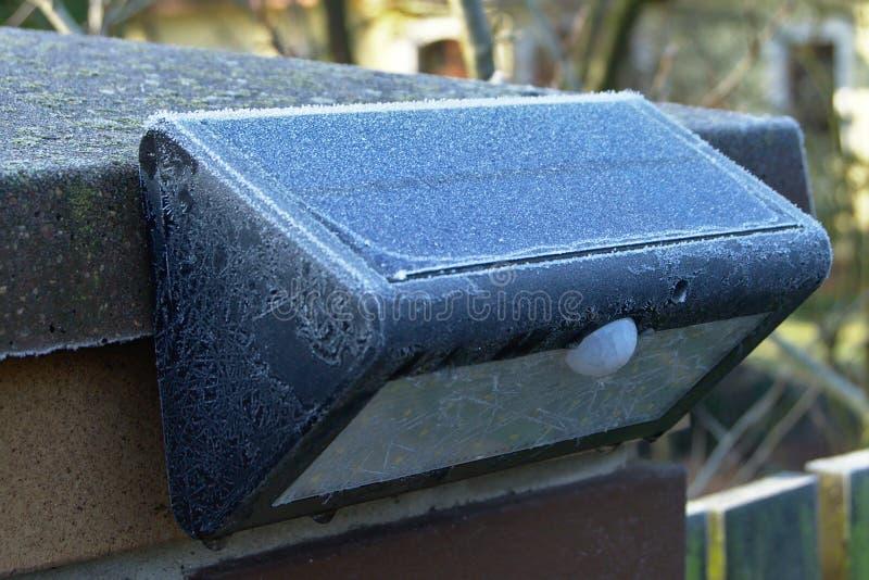 Lámpara solar imagen de archivo