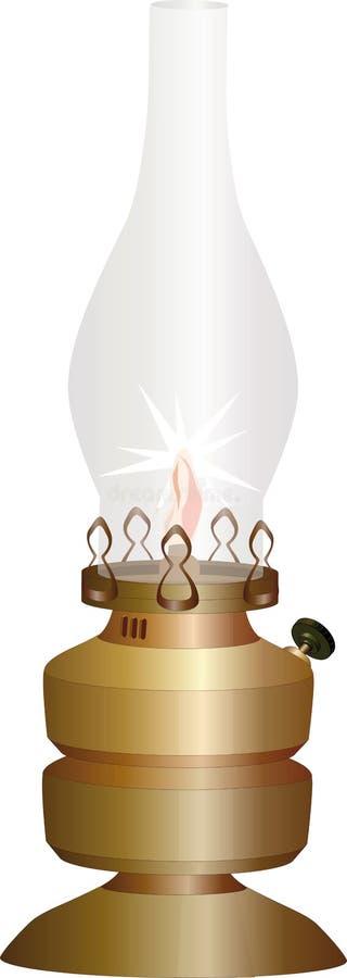 Lámpara vieja ilustración del vector
